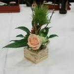 テーブル花も坊守会から