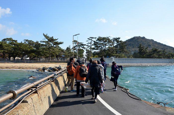 大島青松園の船着き場